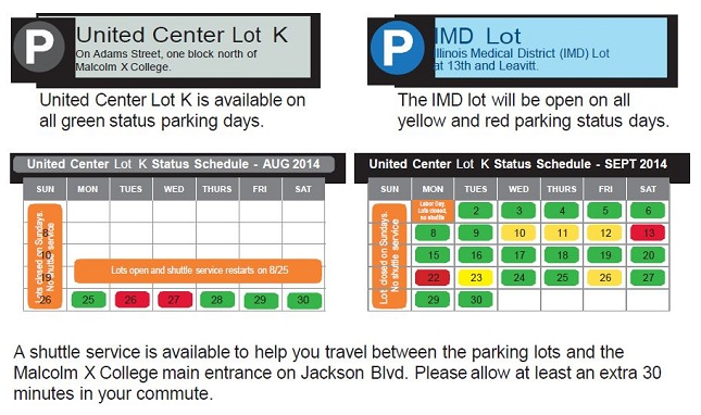 city colleges of chicago malcolm x parking starting august 25