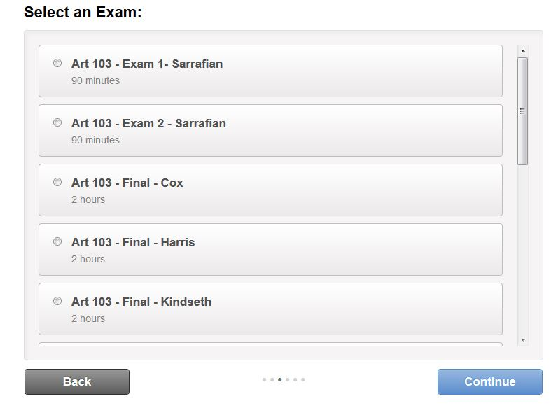 Select an Exam