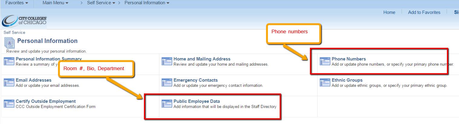 employee contact info