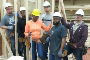students in the highway construction training program